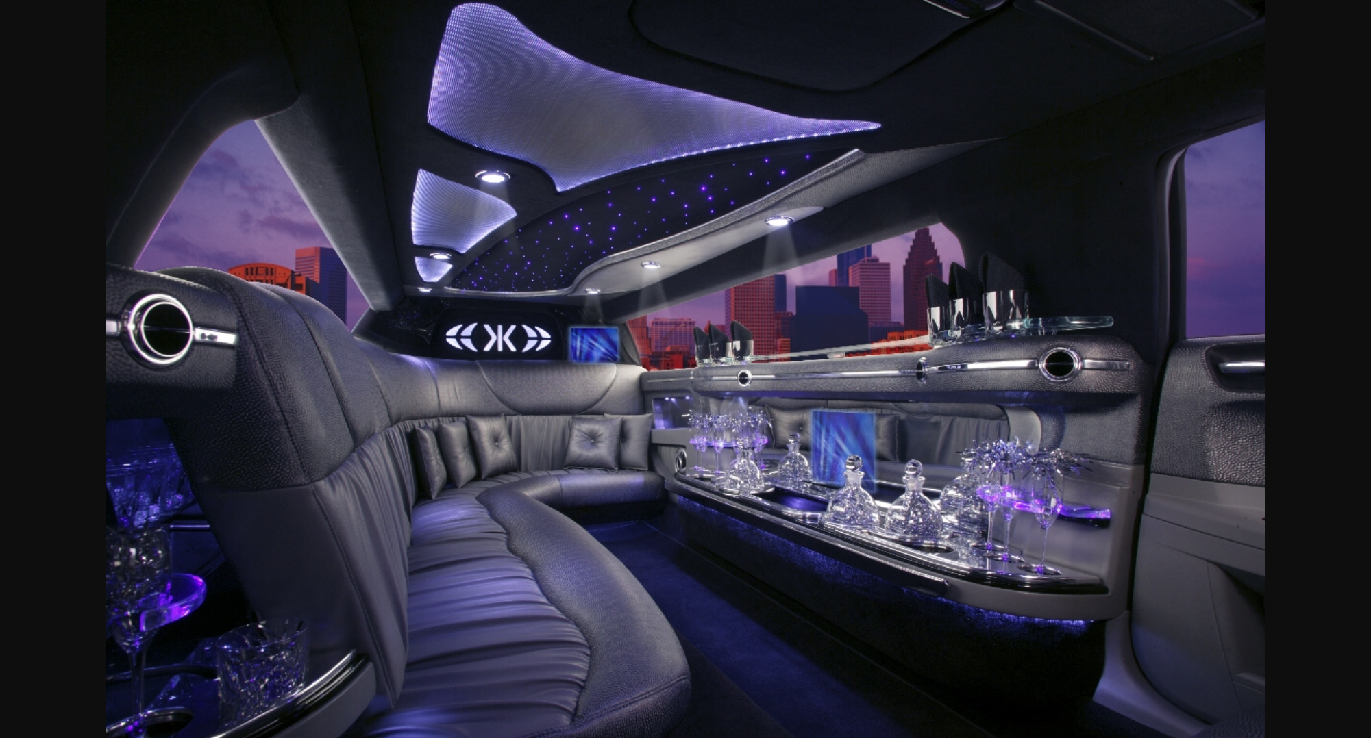 interior of limo